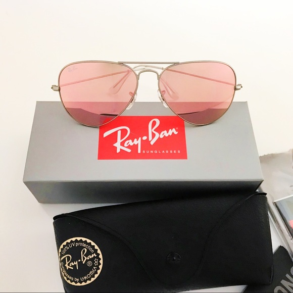 c1cd512e1 Ray-Ban Accessories | Ray Ban Aviator Sunglasses Rb3025 Pink | Poshmark